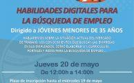 """Formación para Jóvenes: """"habilidades digitales para la búsqueda de empleo""""."""