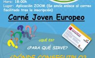 Webinar informativa para solicitar carné joven europeo.