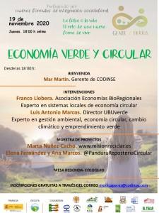 ENCUENTRO ONLINE ECONOMIA VERDE Y CIRCULAR_CODINSE_19_10_2020