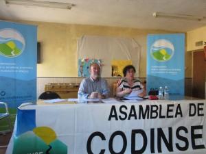 Jesús  lópez presdiente  y Mª del Mar Martín gerente, durante la asamblea de 2019