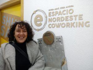 Marta Cacho, una de las ponentes  presentando www.misionreciclar